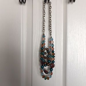Blue and copper color necklace